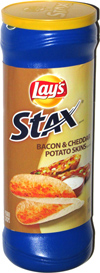 Lay's Stax Bacon & Cheddar Potato Skins