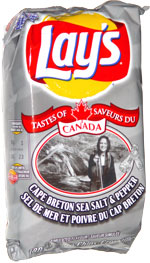 Lay's Tastes of Canada Cape Breton Sea Salt & Pepper