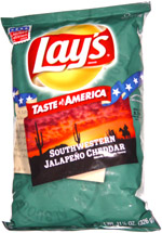 Lay's Tastes of America Southwestern Jalapeno Cheddar