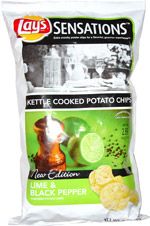 Lay's Sensations Lime & Black Pepper Kettle Cooked Potato Chips
