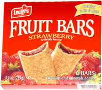 Leclerc Fruit Bars Strawberry