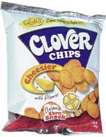 Clover Chips Unique Corn Snack Cheesier
