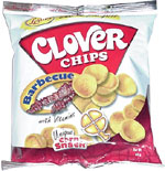 Clover Chips Unique Corn Snack Barbecue