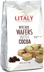 Litaly Bite Size Wafers with Cocoa