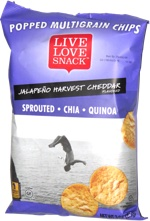 Live Love Snack Popped Multigrain Chips Jalapeño Harvest Cheddar