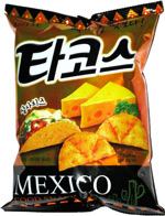 Lotte Mexico Food Snack Cheddar Sour Cream Taco