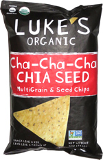 Luke's Organic Cha-Cha-Cha Chia Seed MultiGrain & Seed Chips