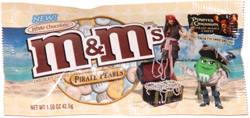 White Chocolate M&M's Pirate Pearls