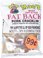 Mac's Wash Pot Style Fat Back Pork Cracklin