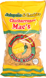 Mac's Jalapeño & Cheddar Pork Rinds