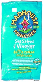 Madhouse Munchies Sea Salted & Vinegar Kettle Cooked Potato Chips