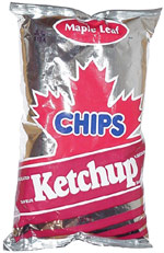 Maple Leaf Ketchup Chips