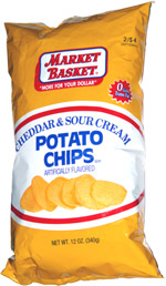 Market Basket Cheddar & Sour Cream Potato Chips