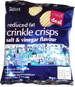 Marks & Spencer Reduced Fat Crinkle Crisps Salt & Vinegar Flavour