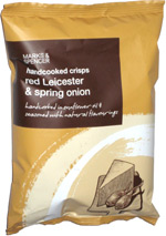 Marks & Spencer Handcooked Crisps Red Leicester & Spring Onion