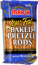 Marsh Low Fat Baked Pretzel Rods