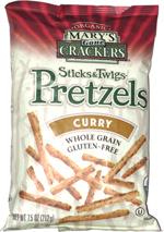 Mary's Gone Crackers Sticks & Twigs Pretzels Curry