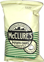 McClure's Potato Chips Crinkle Cut Garlic Dill Pickle