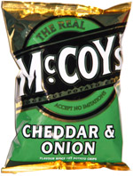 McCoy's Cheddar & Onion Flavour Ridge Potato Chips
