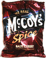 McCoy's Spice Balti Curry Flavour Ridge Potato Chips