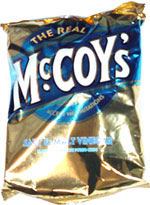 McCoy's Salt & Malt Vinegar Flavour Ridge Cut Potato Chips