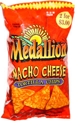 Medallion Nacho Cheese Tortilla Chips