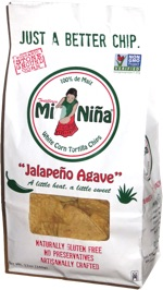 "Mi Niña White Corn Tortilla Chips ""Jalapeño Agave"""