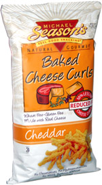 Michael Season's Natural Gourmet Baked Cheese Curls Cheddar