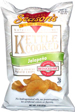 Michael Season's Natural Gourmet Kettle Cooked Jalapeno Thick & Crunchy Potato Chips