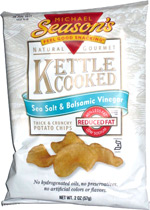 Michael Season's Natural Gourmet Kettle Cooked Sea Salt & Balsamic Vinegar Thick & Crunchy Potato Chips