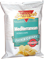 Michael Season's Mediterranean Potato Chips Thin & Crispy Traditional Style
