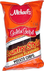 Michael's Gold n' Good Country Style Barbecue Flavored Potato Chips