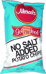 Michael's Gold n' Good No Salt Added Potato Chips