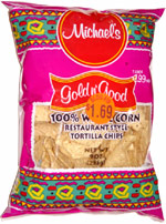 Michael's Gold 'n Good 100% White Corn Restaurant Style Tortilla Chips