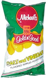 Michael's Gold n' Good Salt and Vinegar Rippled Potato Chips