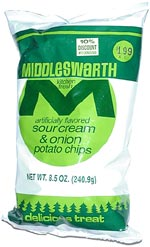 Middleswarth Kitchen Fresh Sour Cream & Onion Potato Chips