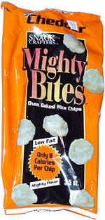 Mighty Bites Cheddar Oven Baked Rice Crisps