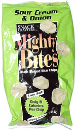 Mighty Bites Sour Cream & Onion Oven Baked Rice Crisps