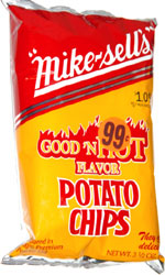 Mike-Sells Good 'n Hot Flavor Potato Chips