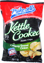 Mike-sells Kettle Cooked Potato Chips Creamy Sweet Onion