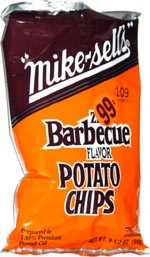 Mike-Sells Zesty Barbecue Flavor Potato Chips