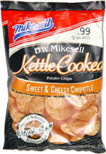 D.W. Mikesell Kettle Cooked Potato Chips Sweet & Cheesy Chipotle