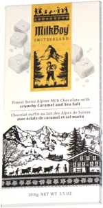 MilkBoy Finest Swiss Alpine Milk Chocolate with crunchy Caramel and Sea Salt
