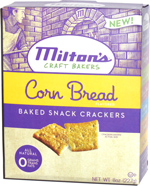 Milton's Craft Bakers Corn Bread Baked Snack Crackers