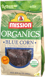 Mission Organics Blue Corn All Natural Tortilla Chips