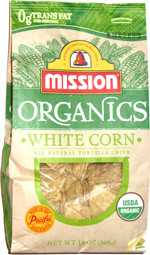 Mission Organics White Corn All Natural Tortilla Chips