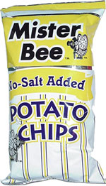Mister Bee No-Salt Added Potato Chips