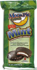 Moon Pie Crunch Mint Chocolate Cookie Sandwich