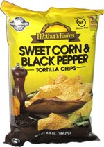 Mother's Farms Sweet Corn & Black Pepper Tortilla Chips