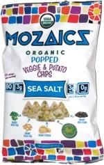 Mozaics Organic Popped Veggie & Potato Chips Sea Salt